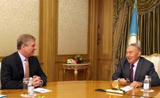 В Акорде Глава государства  и Герцог Йоркский обсудили перспективы расширения казахстанско-британского экономического сотрудничества