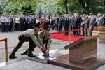 В Алматы открыта мемориальная плита и заложена капсула с землей с могил казахстанских воинов в городе Ржев