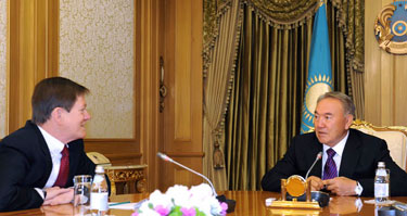 Nursultan Nazarbayev and John Ordway debated bilateral coop issues