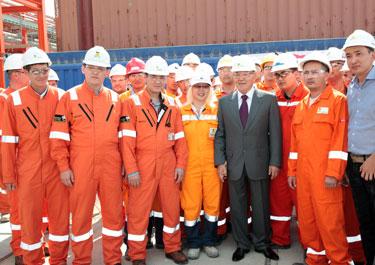 Добыча первой нефти на месторождении Кашаган начнется в конце 2012 года - Нурсултан Назарбаев