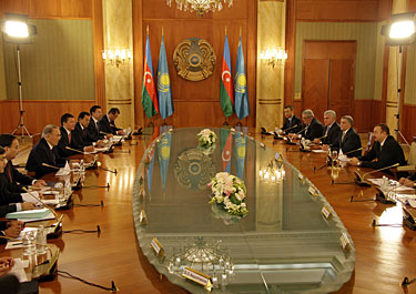 Mинистрами транспорта Казахстана и Азербайджана подписано межправительственное соглашение о морском торговом судоходстве