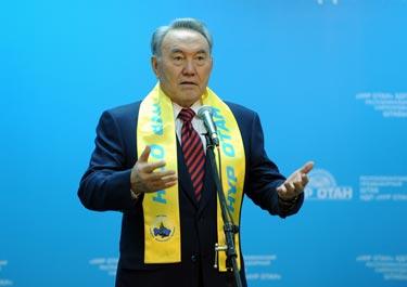 Победа НДП «Нур Отан» - это победа всего народа Казахстана - Н.Назарбаев