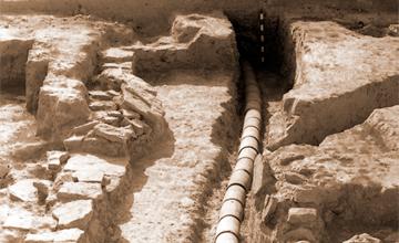 На городище «Древний Тараз» археологи нашли баню-хаммам с водопроводом, уникальную керамику и тюргешские монеты