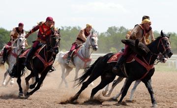 В Казахстане в состязаниях «кокпар» вместо настоящих туш козлов будут  использованы муляжи