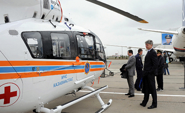 ҚР Төтенше жағдайлар министрлігіне екі жаңа тікұшақ тапсырылды