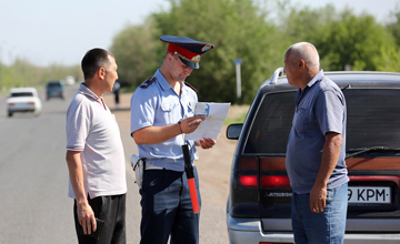 За неделю актюбинские полицейские выявили около 2,5 тысячи нарушений ПДД