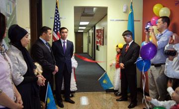 В нефтяной столице США состоялось официальное открытие первой казахской школы