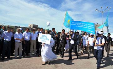 Более 5 тыс. человек  принимают участие в форуме патриотов «Мой Казахстан» в Атырау