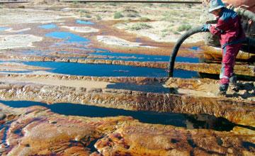 В Атырау компанию, разлившую 101 тонну нефти, оштрафуют на сумму около 5 миллионов тенге
