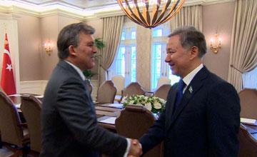 Мәжіліс Төрағасы Н. Нығматулин Түркия Президенті Абдолла Гүлмен кездесті