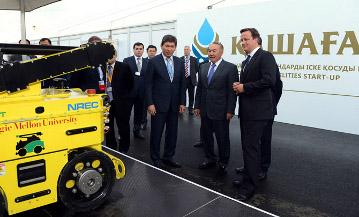 Президенту РК и Премьер-Министру Великобритании презентовали робота «Сенсабот»