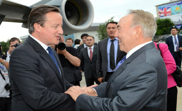 В Казахстан прибыл Премьер-Министр Великобритании Дэвид Кэмерон