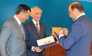 Нурсултан Назарбаев награжден первым орденом «За рыцарство»