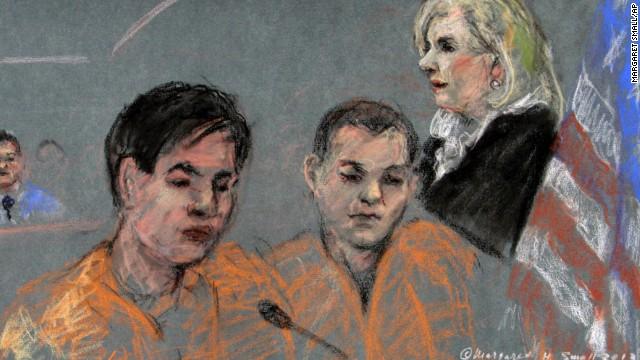 2 friends of Boston bombing suspect from Kazakhstan plead not guilty