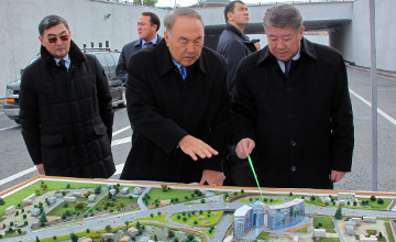 President Nazarbayev explores prospects for Almaty transport infrastructure development