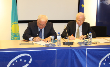 Joint Declaration on enhancing cooperation between Kazakhstan and the Council of Europe signed in Brussels
