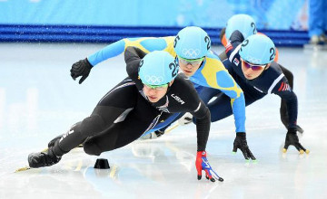 Kazakhstan finished 5th in men's 5,000 m short-track relay