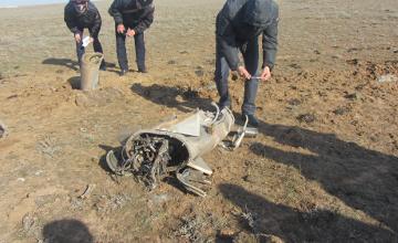 Упавшая в Западном Казахстане ракета является метеорологической – ДЧС