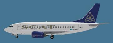 Самолет «SCAT» аварийно сел в аэропорту Астаны из-за проблем переднего шасси