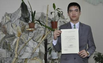 Учащийся Назарбаев Интеллектуальной школы из Усть-Каменогорска  занял 1 место на международном конкурсе в Испании