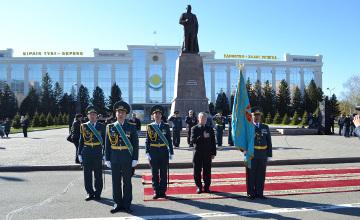 Боевое знамя от имени Президента РК вручено воинской части в Восточном Казахстане