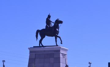 В День защитника Отечества в Усть-Каменогорске открыли памятник Кабанбай батыру