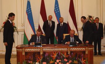 Узбекистан и Латвия подписали пакет двухсторонних документов