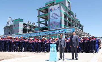 President launches chemical production plant in Zhambyl rgn