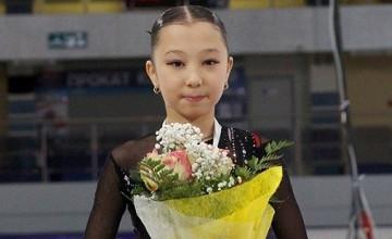 Kazakhstan's figure skater wins silver at Dresden Grand Prix