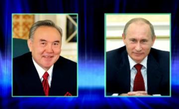 N. Nazarbayev congratulates V. Putin on his birthday