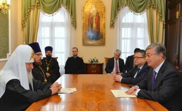 Н. Назарбаев пригласил Патриарха Кирилла на Съезд лидеров мировых и традиционных религий (ФОТО)