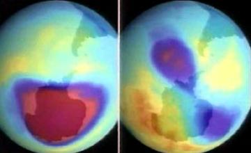 Антарктида аспанындағы озон ойығы материктен екі есе үлкен