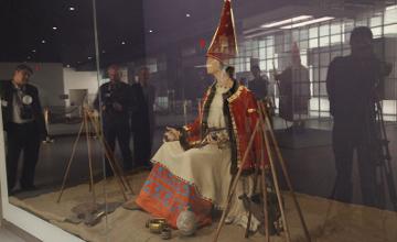 В Национальном музее РК презентован уникальный экспонат «Алтын ханшайым» (Таксайская принцесса)
