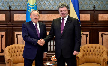 Ukrainian President thanks Nazarbayev for visiting Kiev
