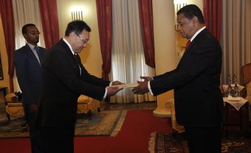 新任驻埃塞俄比亚大使向埃总统递交国书