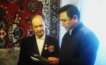 Семейде Ұлы Отан соғысының ардагерлерін ҚР Президентінің атынан құттықтады