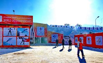 Новая лыжная трасса открыта в центре Алматы (ФОТО)