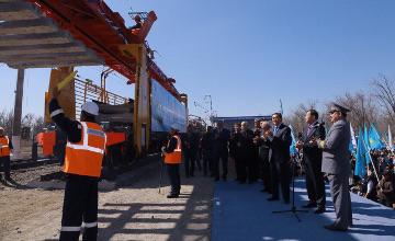 В порту Курык  на Каспии запущено строительство  паромного комплекса