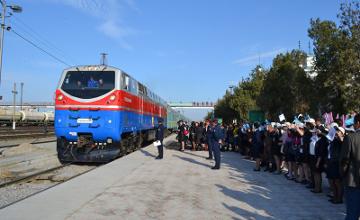 В Туркестан прибыл поезд «Менің Қазақстаным» (ФОТО)