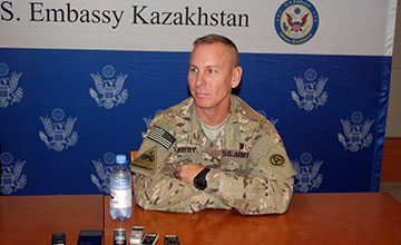 Investment into Kazakhstani military personnel will pay off in the future - Command Sgt. Maj. Ronnie Kelley