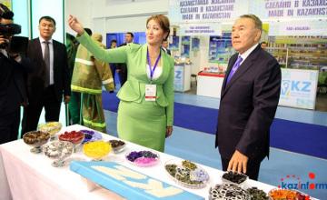 Глава государства ознакомился с выставкой достижений «Қазақстанда  жасалған - Сделано в Казахстане -2015» (ФОТО)