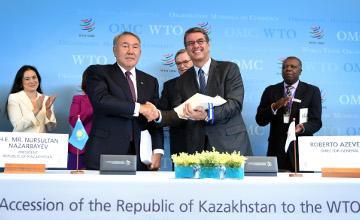纳扎尔巴耶夫签署哈萨克斯坦入世议定书
