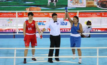 Dariga Shakimova won gold medal at Asian Confederation Women's Continental Championship