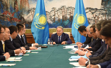 President Nazarbayev met with heads of Chinese corporations (PHOTO)