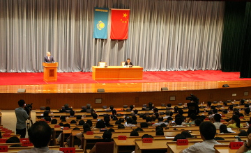 President Nazarbayev makes speech at Party School of the CPC Central Committee