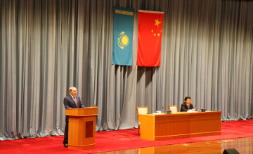 Head of State talked on the prerequisite for transit transport coop in Astana-Islamabad-Beijing format