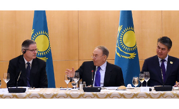 N. Nazarbayev met with heads of American companies with total amount of assets making USD 10 trln