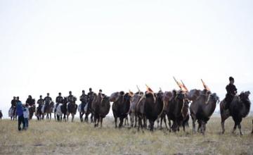Каравану, идущему по маршруту Шелкового пути из Сианя, готовят торжественную встречу в жамбылском Уш-булаке (ФОТО)