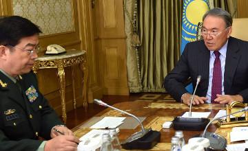 Kazakh President receives China's Defense Minister Chang Wanquan