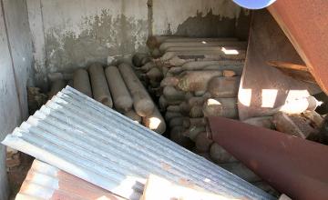 В городской черте Атырау обнаружили баллоны с жидким хлором